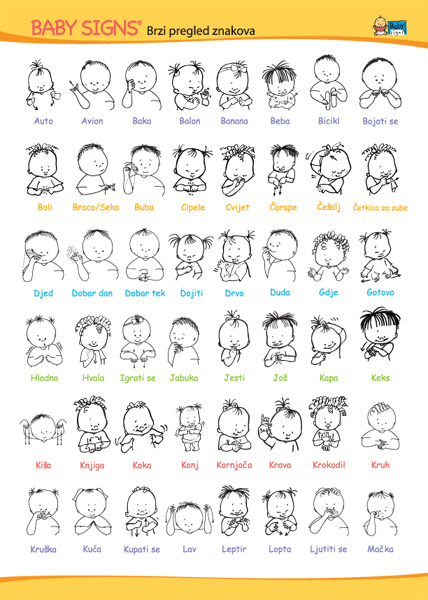Baby Sign Language Chart Self Print Version Pictures to pin on ...